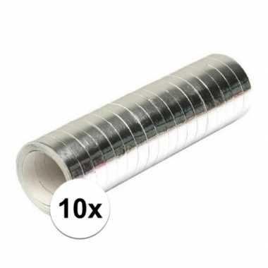10x serpentine rollen zilver 4 meter