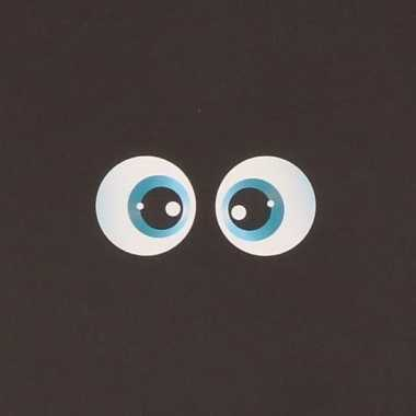 10x setjes van halloween ogen stickers van 3 cm 2 ogen