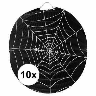 10x spinnenweb lampionnnen 22 cm