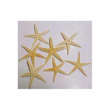 10x stuks decoratie zeesterren 10 cm