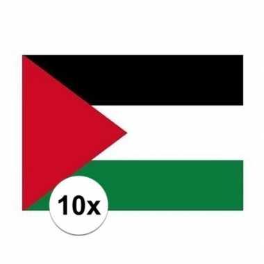 10x stuks vlag van palestina plakstickers