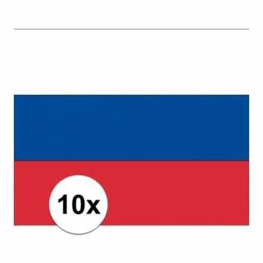 10x stuks vlag van rusland plakstickers