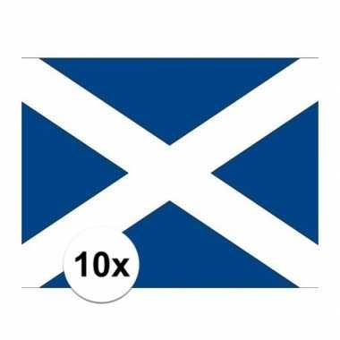 10x stuks vlag van schotland plakstickers