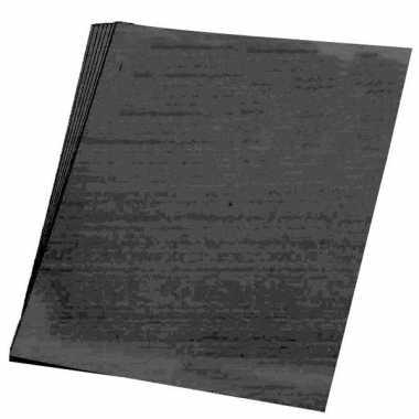 10x vellen zwart karton van 48 x 68 cm