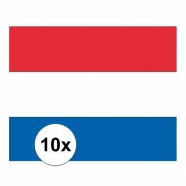 10x vlag nederland stickers