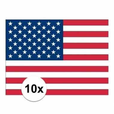 10x vlag usa stickers