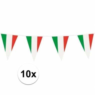 10x vlaggenlijnen italie 10 meter