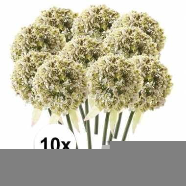 10x witte sierui kunstbloemen 70 cm