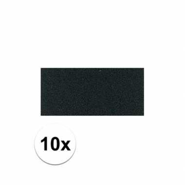 10x zwarte crepla plaat met 20 x 30 x 0 2 cm trend