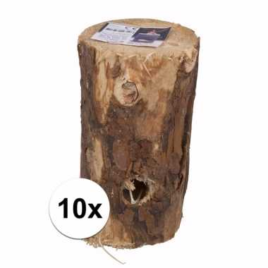 10x zweedse boom fakkel 20 cm