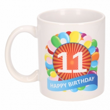 11e verjaardag cadeau beker / mok 300 ml