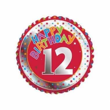 12 jaar helium ballon happy birthday