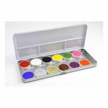 12 kleurige schmink palet
