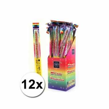12 neon sterretjes 45 cm
