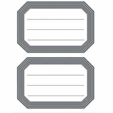 12 schoolboek etiketten wit/grijs