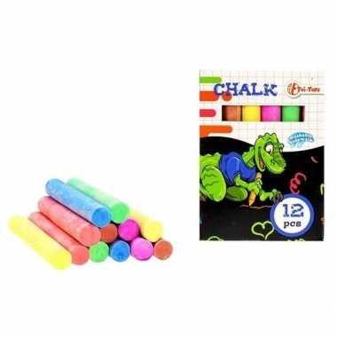 12 stuks gekleurde schoolbord krijtjes