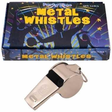 12 x metalen scheidsrechter fluitjes