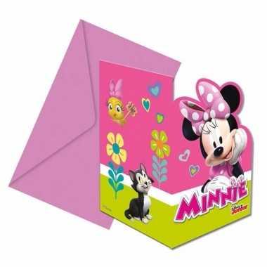 12x disney minnie mouse uitnodigingen voor uw feestje
