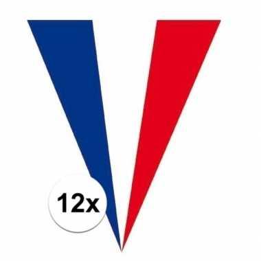 12x frankrijk vlaggenlijnen 5 meter