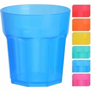 12x gekleurde shotglaasjes van plastic