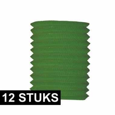 12x groene treklampion 16 cm diameter