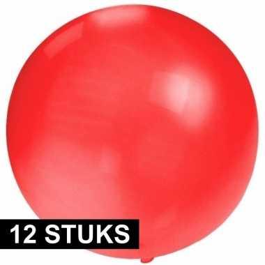 12x grote ballonnen 60 cm rood