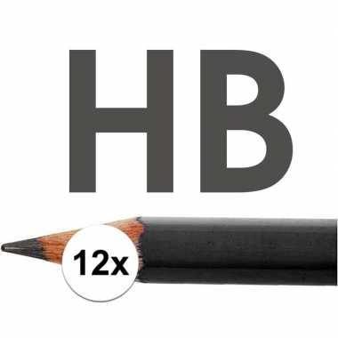 12x hb potloden voor volwassenen hardheid hb