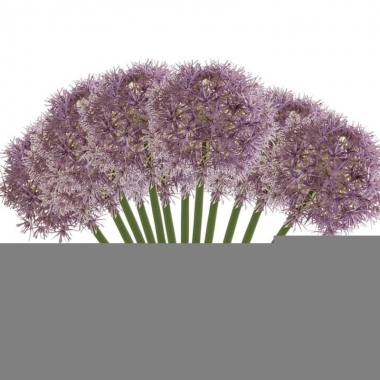 12x lila paarse allium/sierui kunstbloemen 65 cm