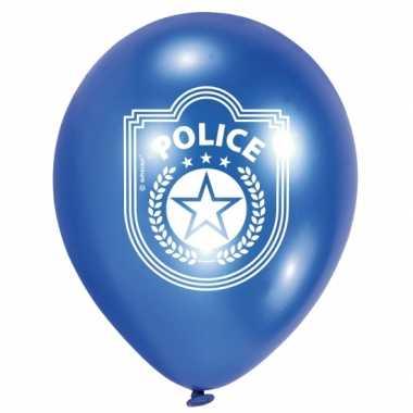 12x politie thema ballonnen