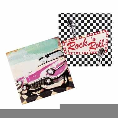 12x rock n roll servetten 33cm