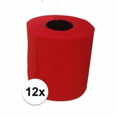 12x rood toiletpapier
