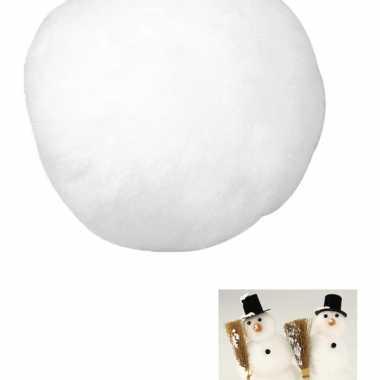 12x stuks witte ballen van acryl 7,5 cm