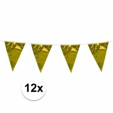 12x vlaggenlijn goud van 10 meter