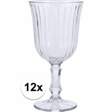 12x wijn glazen 240 ml