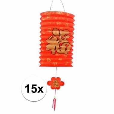 15 aziatische lampionnen 20 cm