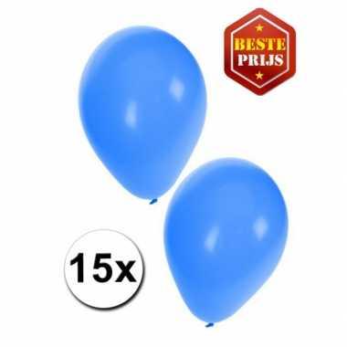 15 blauwe decoratie ballonnen