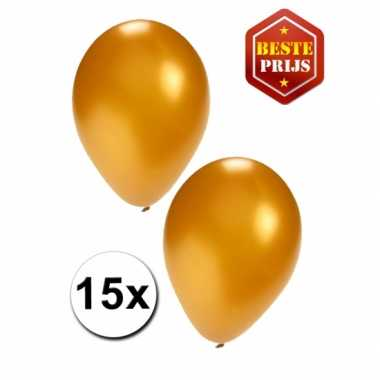 15 gouden decoratie ballonnen