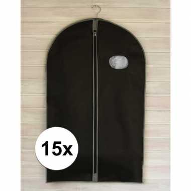 15 x kleding beschermhoezen 100 cm