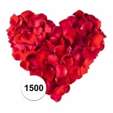 1500 luxe rode rozenblaadjes van stof