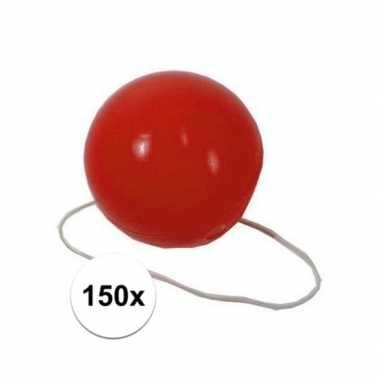150x voordelige rode clowns neuzen