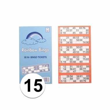 15x bingokaarten 1-90