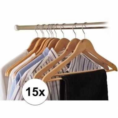 15x houten kledinghangers