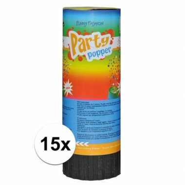 15x mini party poppers 11 cm