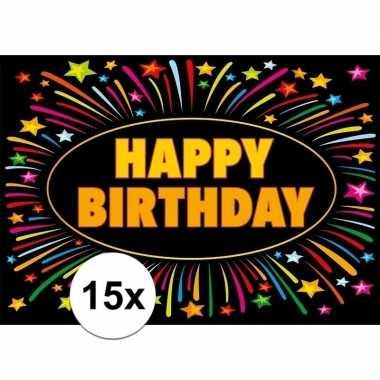 15x verjaardag wenskaart happy birthday