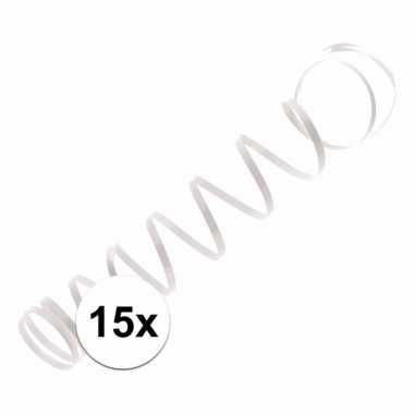 15x wit ballon lint 1,5 meter