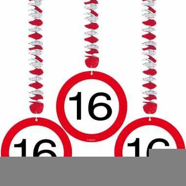 16 jaar versiering stopbord rotorspiralen