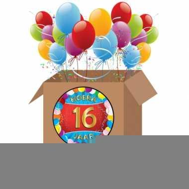 16 jarige feestversiering pakket xl