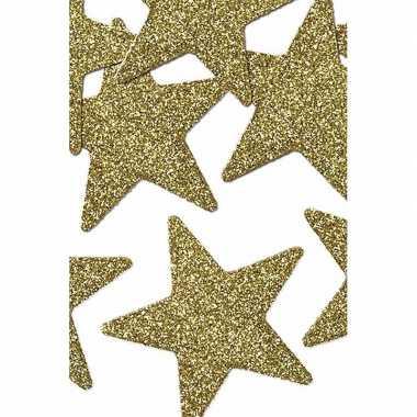 16 stuks gouden decoratie sterren 5 cm