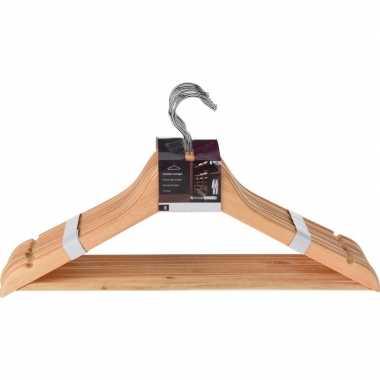 16 stuks luxe houten kledinghangers