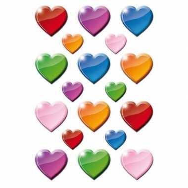 162x gekleurde hartjes figuren stickers